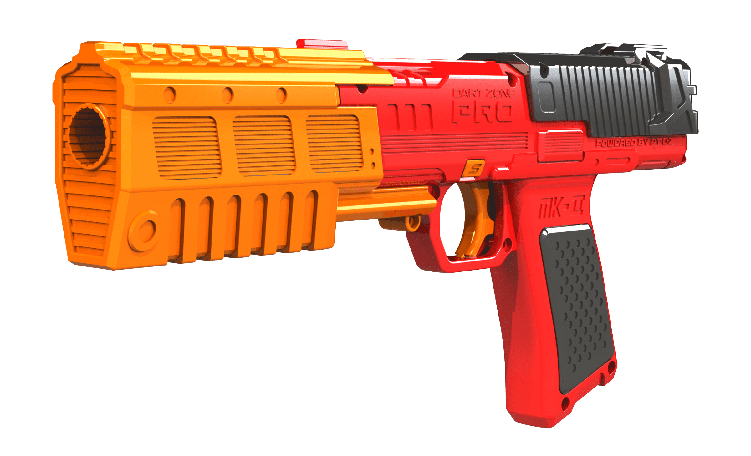 Left Side View of the Pro Series MK-2 High Power Toy Foam Dart Blaster