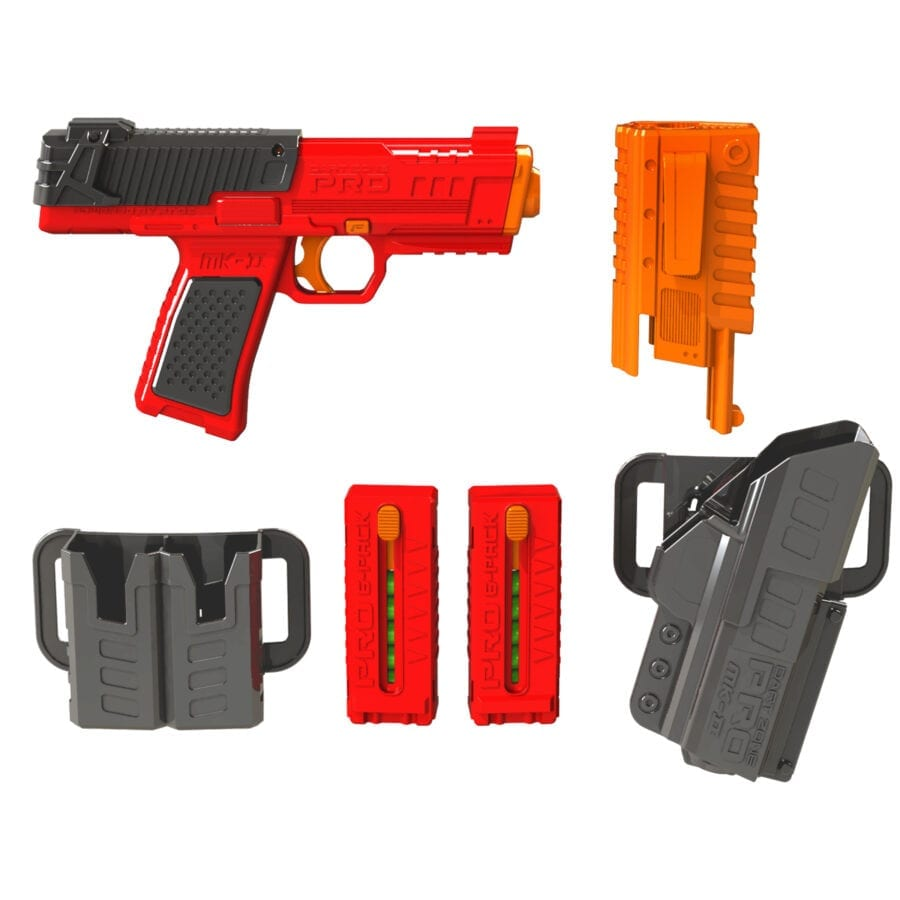 All Parts Included in the Pro Series MK-2 High Power Toy Foam Dart Blaster