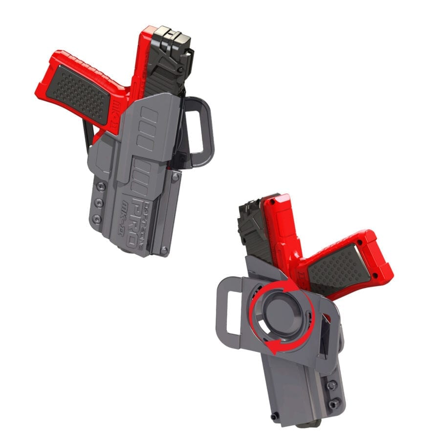 Double Holstered View of the Pro Series MK-2 High Power Toy Foam Dart Blaster