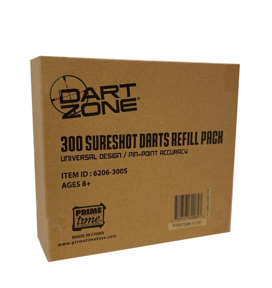 Box of the 300 Dart Refill Pack Waffle Tipped Foam Darts for High Powered Toy Blasters