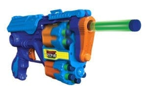 High Power Toy Foam Commando Iconic 4 Turbo Pack Blasters with Waffle Tip Darts in Action