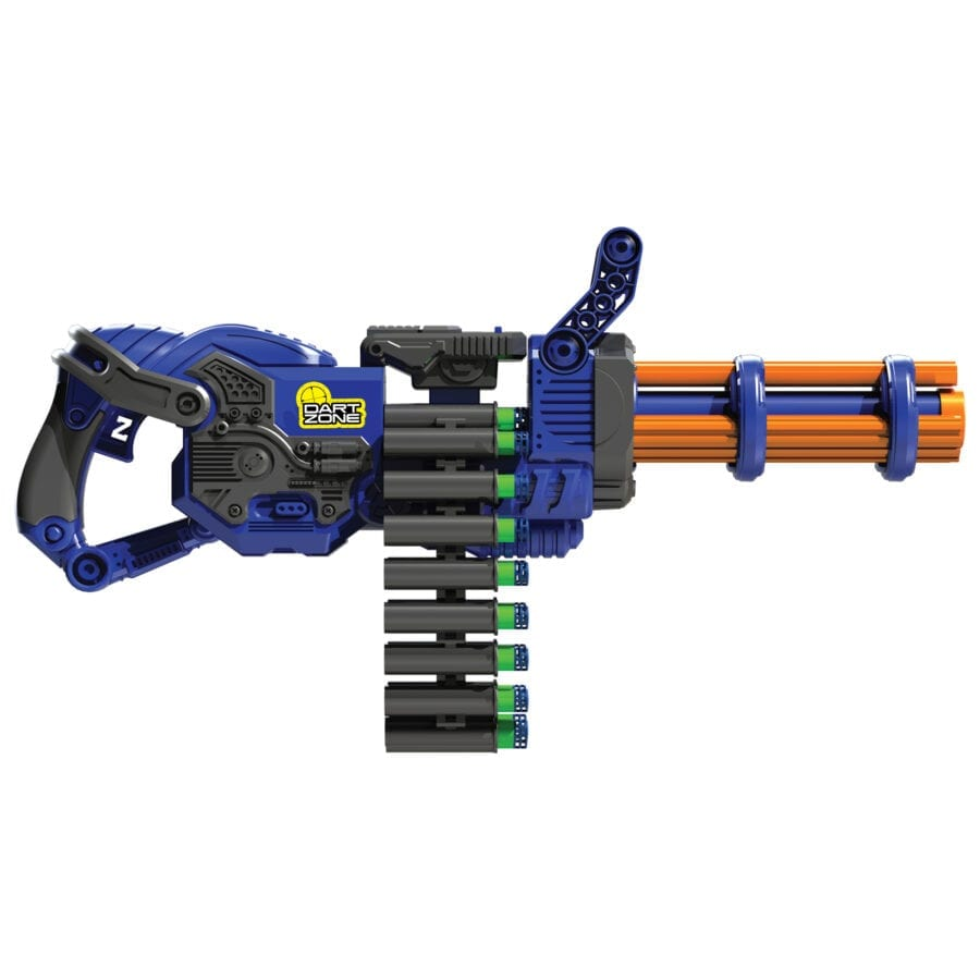 Side View of the Scorpion High Power Automatic Belt Fed Toy Rotating Barrel Gatling Blaster