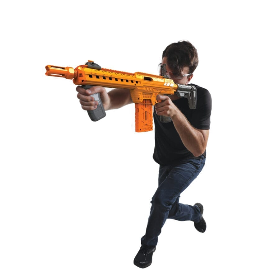 Held Action View of the Adventure Force Nexus Pro Ultimate High Power Toy Foam Dart Blaster