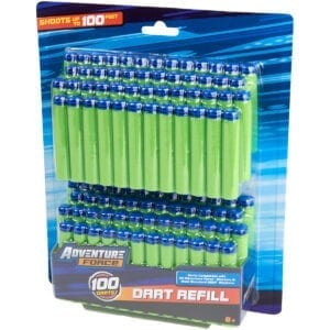 Adventure Force Foam Waffle Tipped 100 Dart Refill Ammo Pack for High Powered Toy Dart Blasters