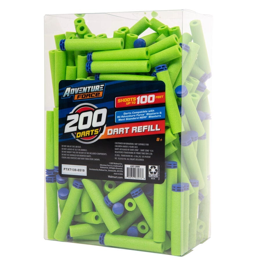 Adventure Force 200-Piece Refill Pack with Waffle Tip Darts for High Power Toy Dart Blasters
