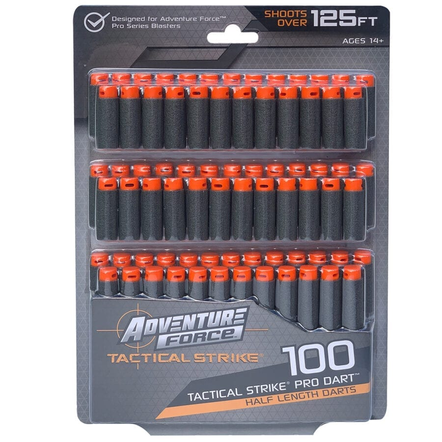 Adventure Force 100 Toy Foam Half-Length Pro Dart Refill for High Power Toy Blasters
