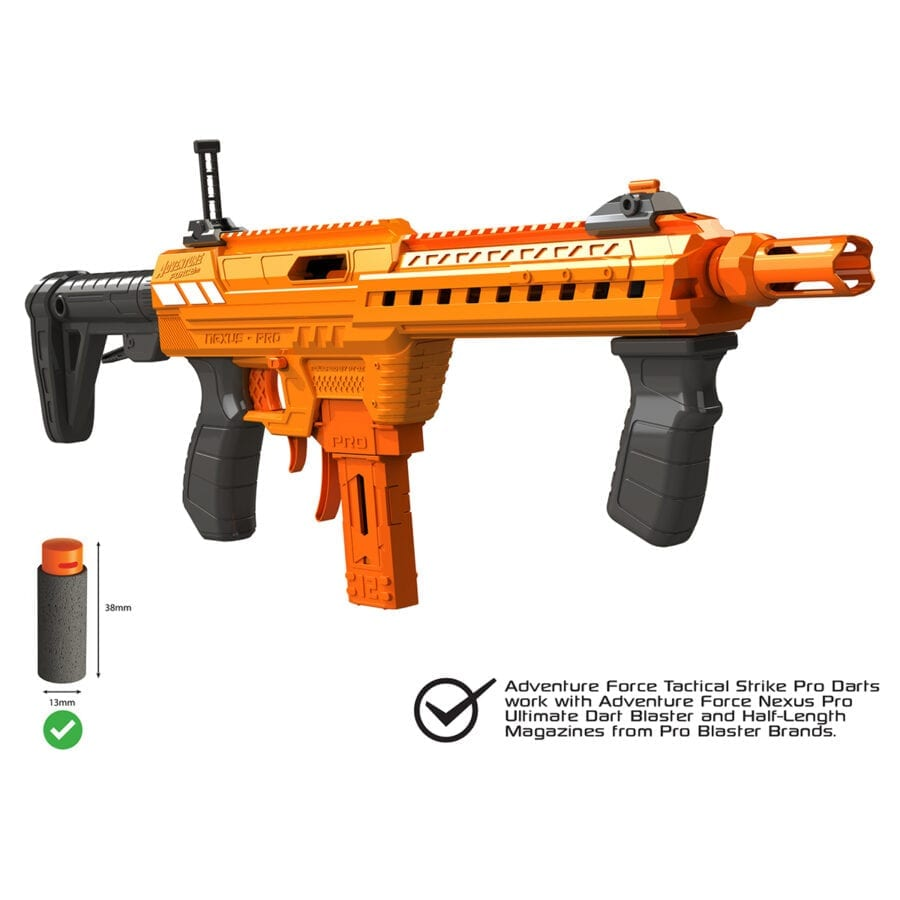 The Nexus Pro and the Adventure Force 100 Toy Foam Half-Length Pro Dart Refill for High Power Toy Blaster