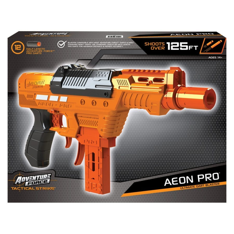 Box View of the Adventure Force Aeon Pro Ultimate High Power Toy Foam Dart Blaster