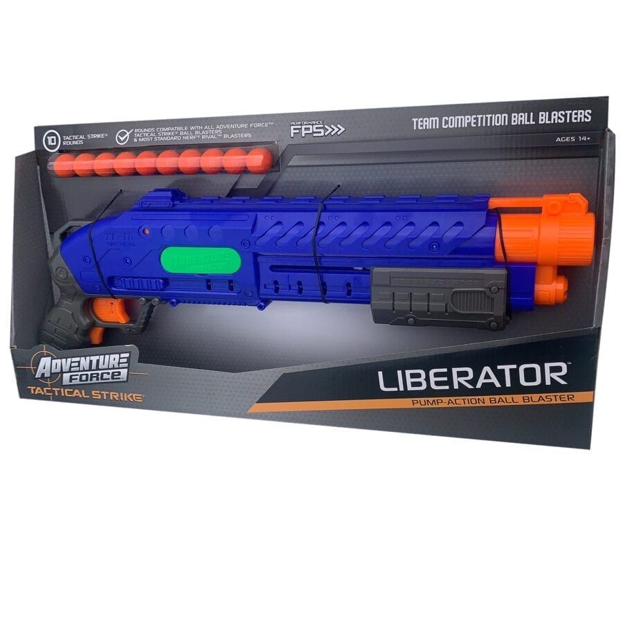 Box View of the Adventure Force Liberator Tactical Strike High Power Toy Foam Ball Blaster