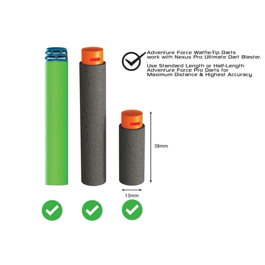 Darts Compatible with the Adventure Force Nexus Pro Ultimate High Power Toy Foam Dart Blaster