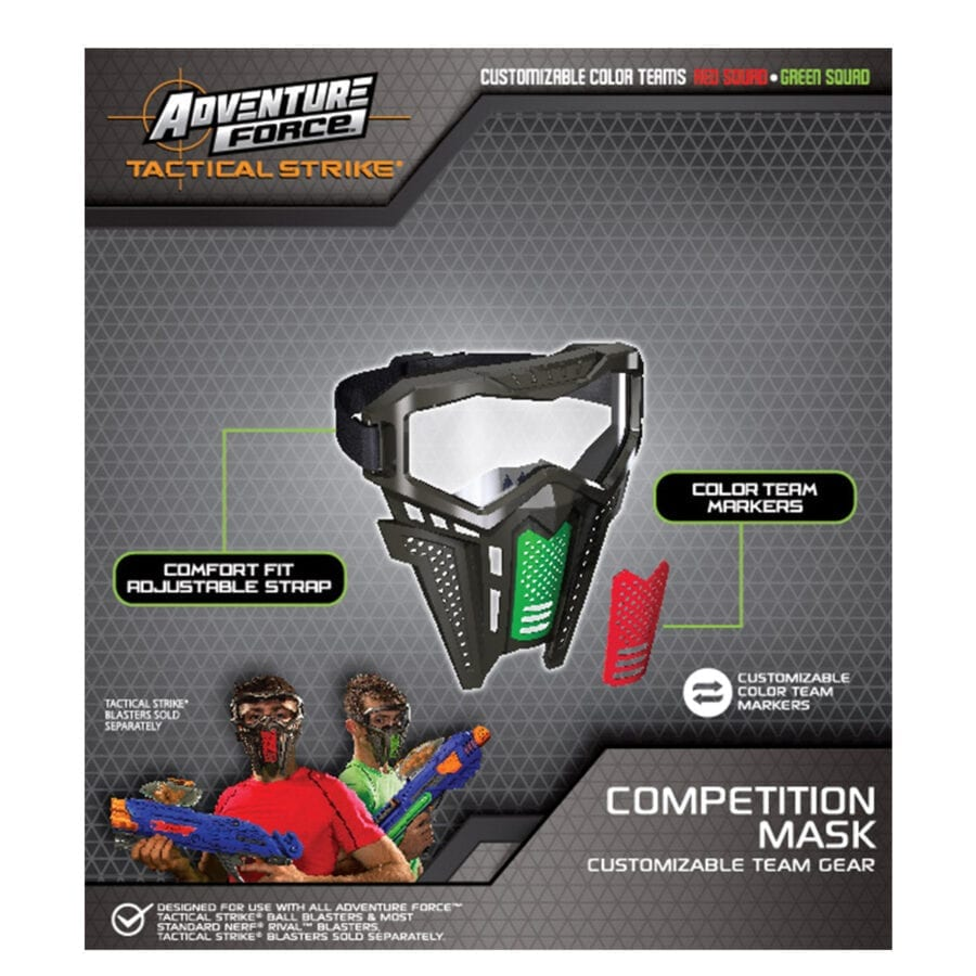Back of the Box View of the Adventure Force Tactical Strike Mask for High Power Team Competition