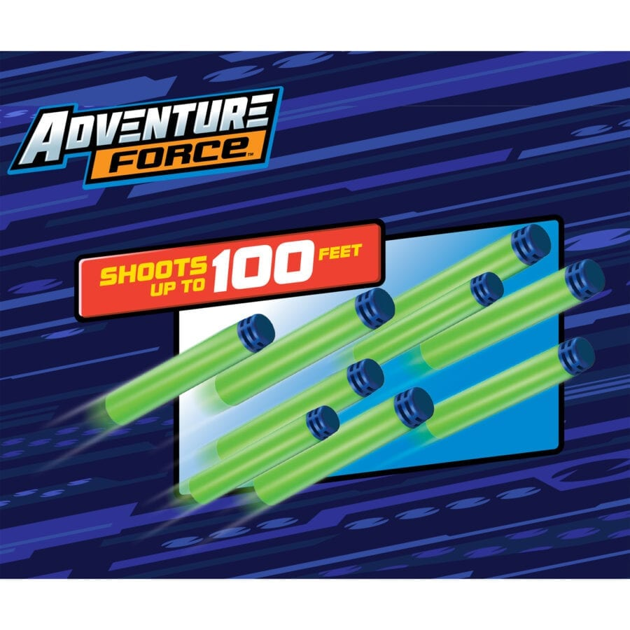 100 Feet Badge for the Adventure Force 200-Piece Refill Pack with Waffle Tip Darts for High Power Toy Dart Blasters