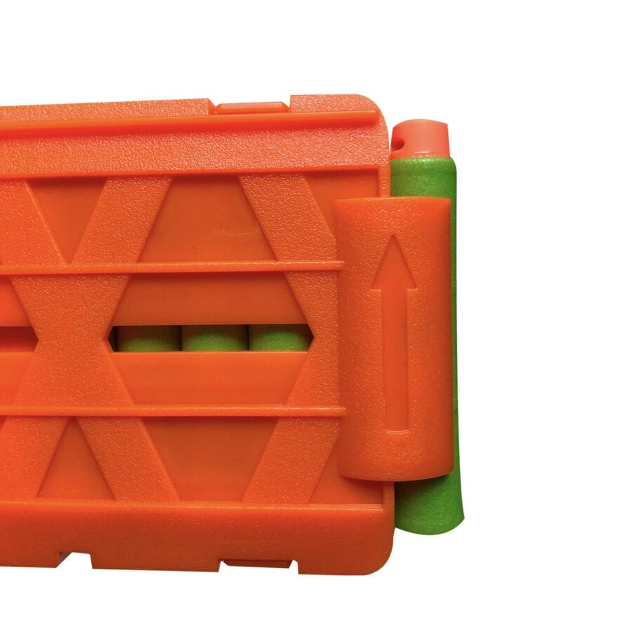 Side View of the Pro Standard-Length Magazines for High Power Toy Foam Dart Blasters with Darts
