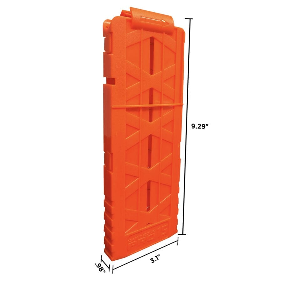 Dimensions of the Pro Standard-Length Magazines for High Power Toy Foam Dart Blasters