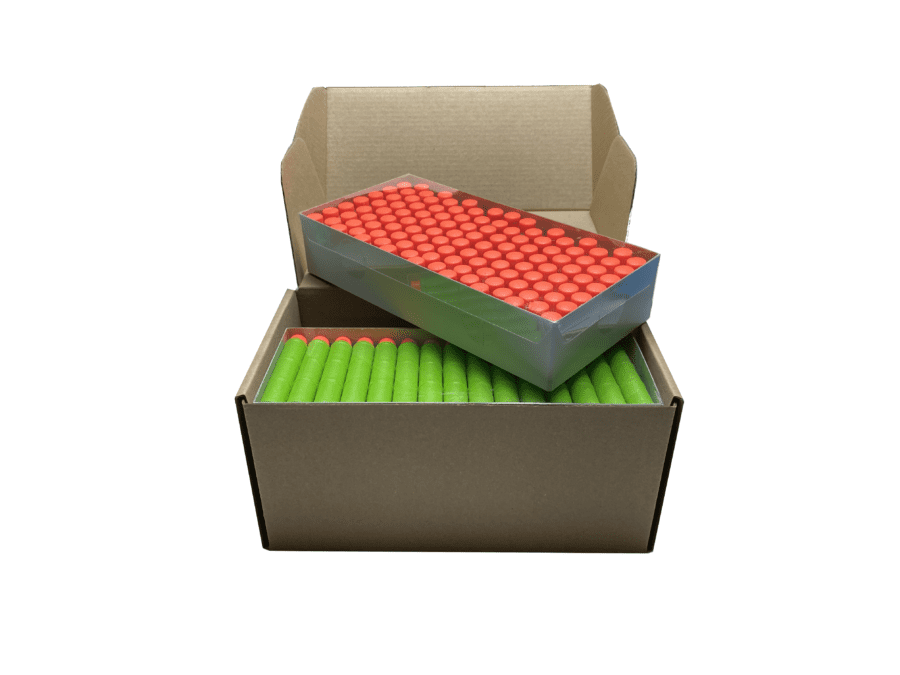 Opened Box View for the 240 Toy Foam Pro Darts Ammo Refill Pack for High Power Dart Blasters