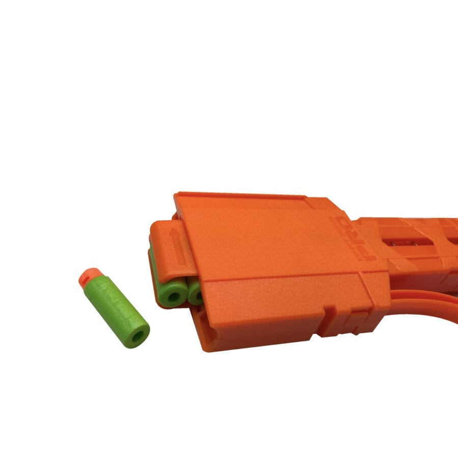 Left Side View for the Pro Half-Length Magazines with Adaptors for High Power Toy Foam Dart Blasters with Extra Darts
