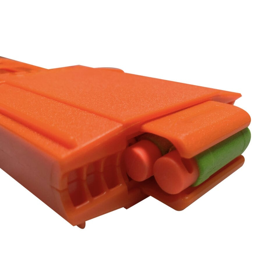 Right view for the Pro Half-Length Magazines with Adaptors for High Power Toy Foam Dart Blasters with Loaded Darts