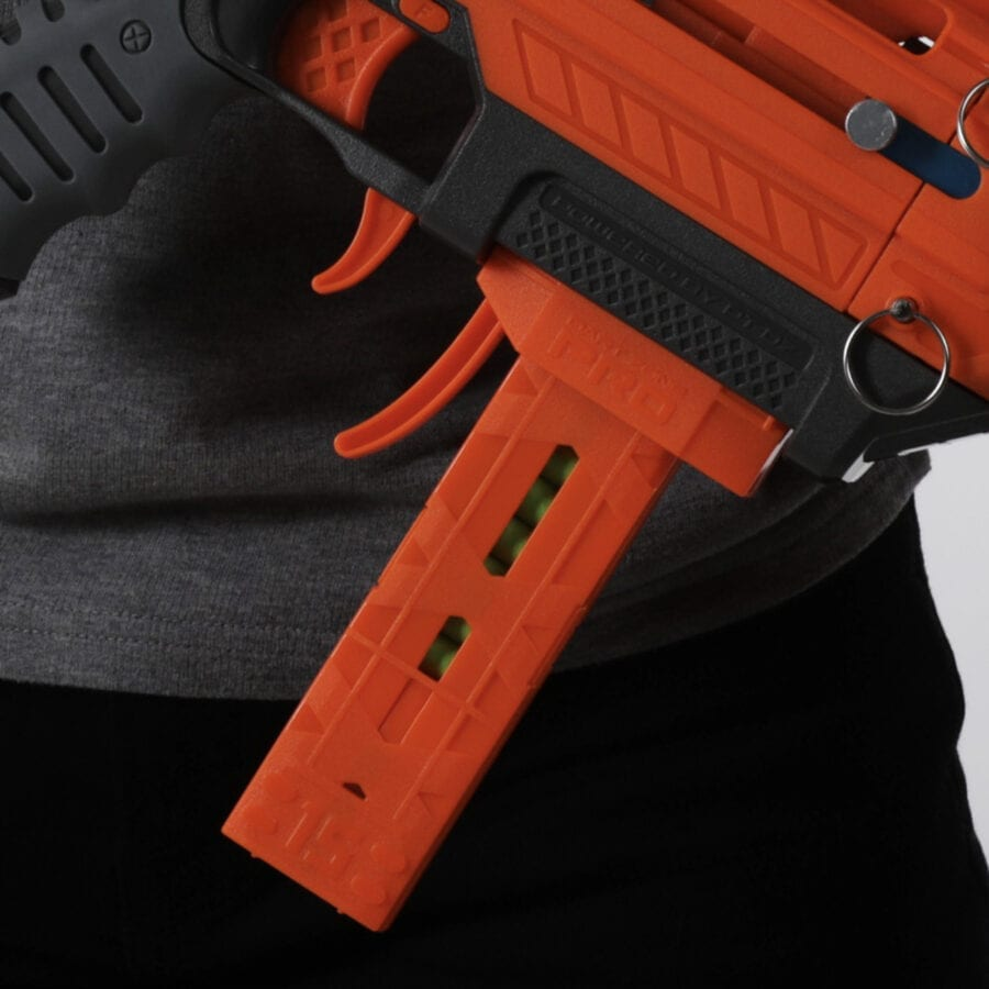 Mk1.1 View for the Pro Half-Length Magazines with Adaptors for High Power Toy Foam Dart Blasters