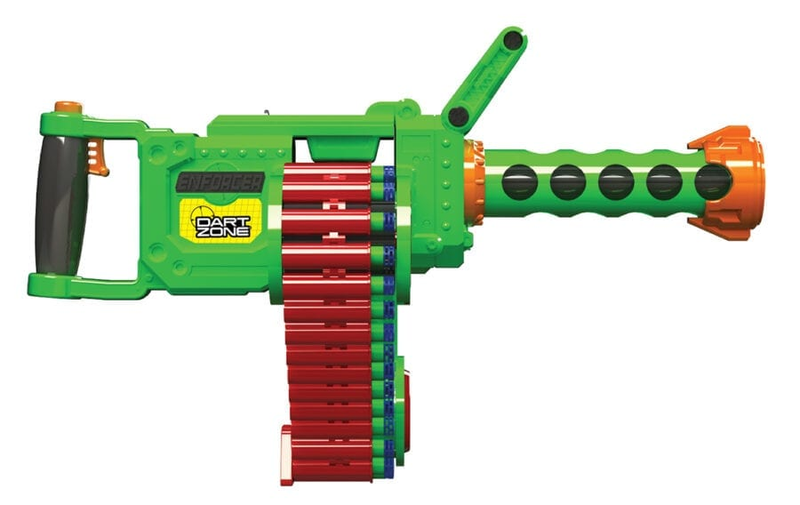 Automatic High Power Belt Fed Toy Foam Enforcer Super Commando Dart Blaster With Waffle Tip Darts and Targets