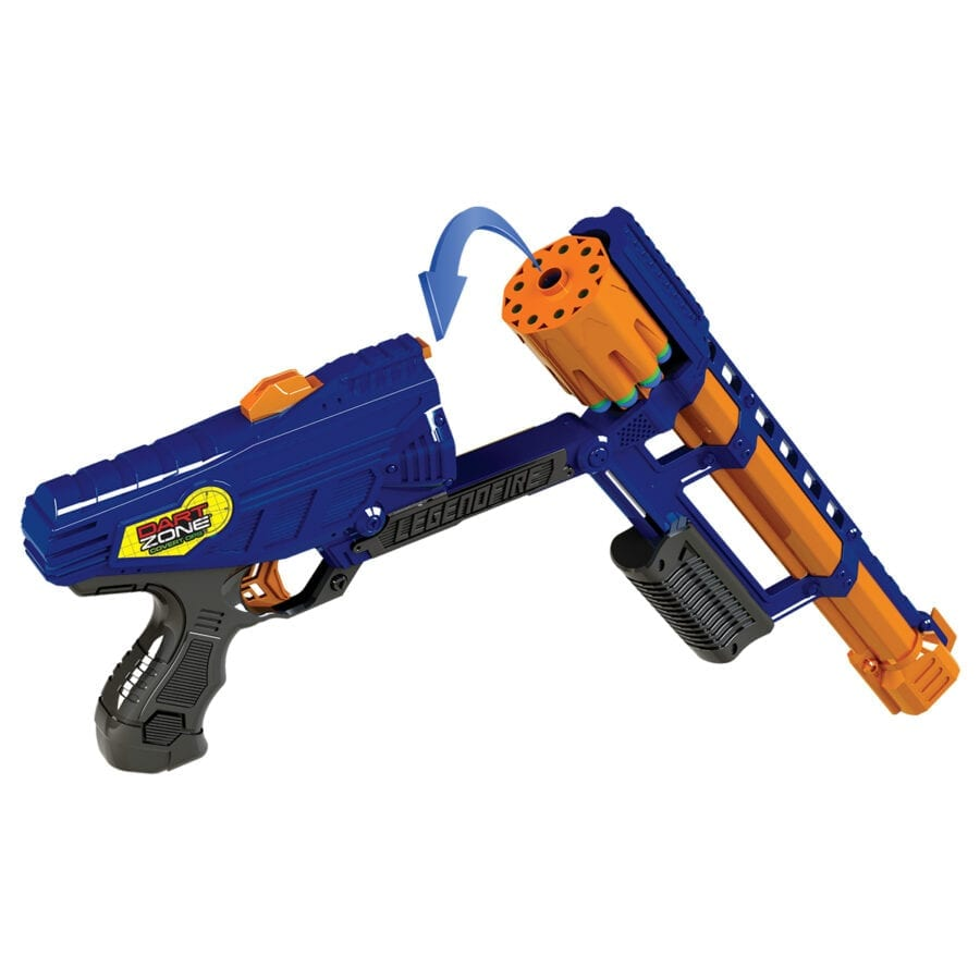 Reloading Action of the High Power Toy Foam Legendfire Powershot Blaster with Waffle Tip Darts
