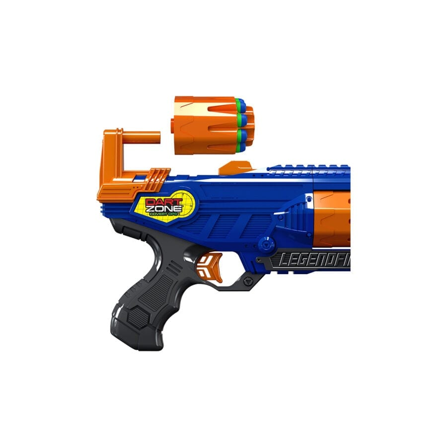 Extra Cylinder in the High Power Toy Foam Legendfire Powershot Blaster with Waffle Tip Darts