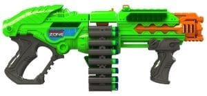 Powerbolt X High Power Belt Fed Toy Foam Dart Blaster with Waffle Tip Darts
