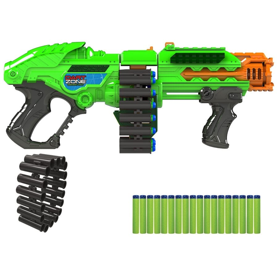 All Accessories included in the Powerbolt X High Power Belt Fed Toy Foam Dart Blaster with Waffle Tip Darts