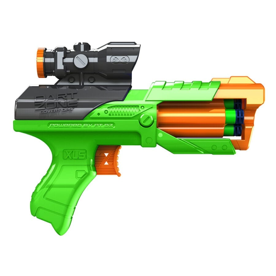 Side View of the Storm Squad Quickshot High Power Toy Foam Dart Blaster In Action
