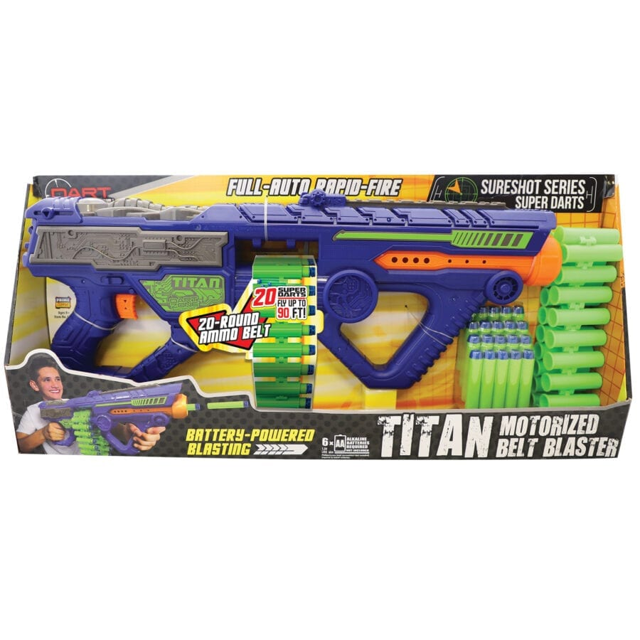 Second Box View of the Automatic High Power Toy Foam Titan Belt Blaster