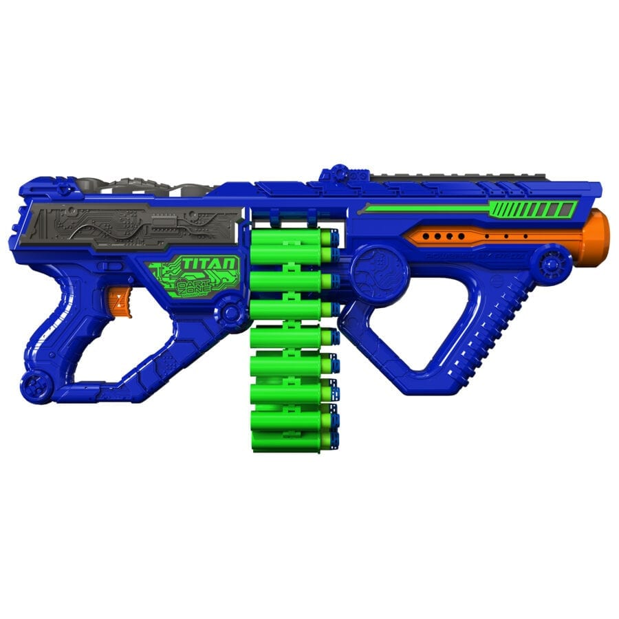 Side View of the Automatic High Power Toy Foam Titan Belt Blaster