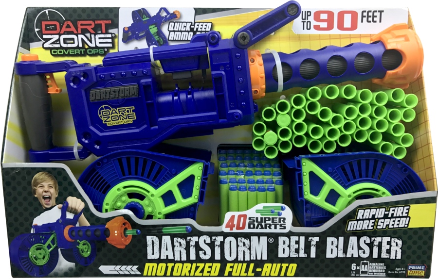 Box View of the Automatic High Power Toy Foam Dart Storm® Belt Blaster