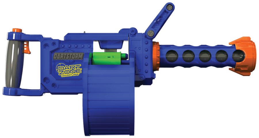 Side View of the Automatic High Power Toy Foam Dart Storm® Belt Blaster