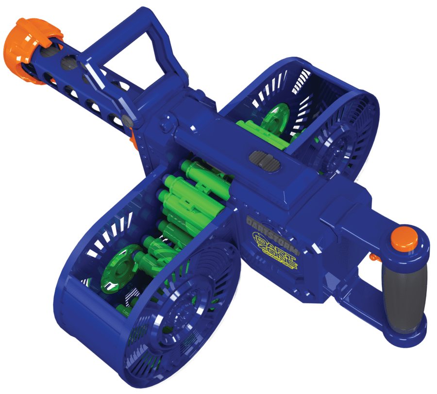 Top View of the Automatic High Power Toy Foam Dart Storm® Belt Blaster