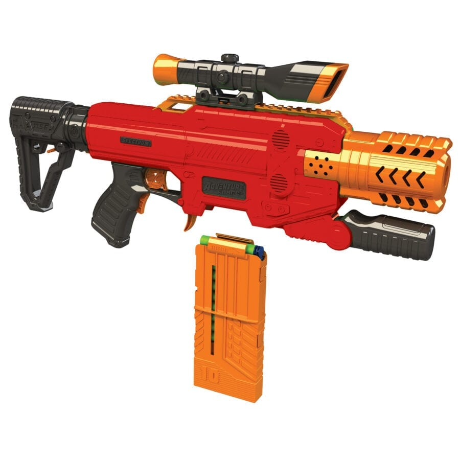 Diagonal View of the Adventure Force Spectrum Automatic High-power Toy Blaster